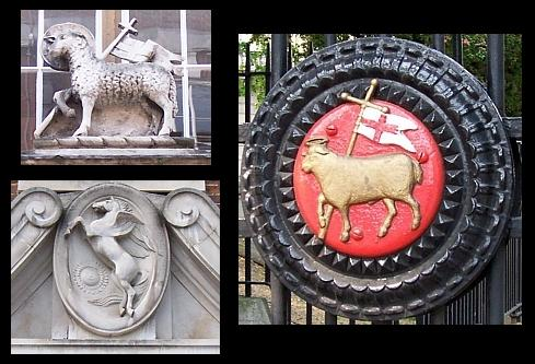 Temple church - Emblems of the Lamb (Christ) and Pegasus (winged horse)