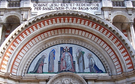 Westminster cathedral - Tympanum