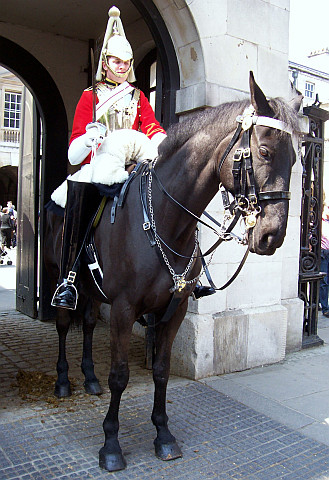 Whitehall - Horse guard at the entrance