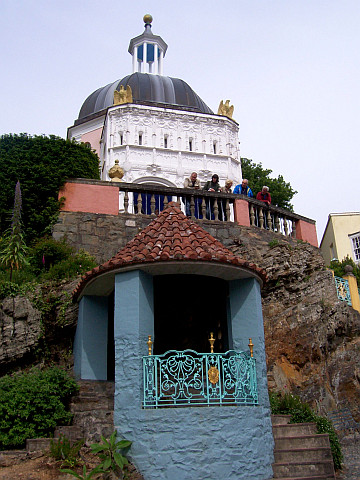 Portmeirion - Dome and temple of Buddha