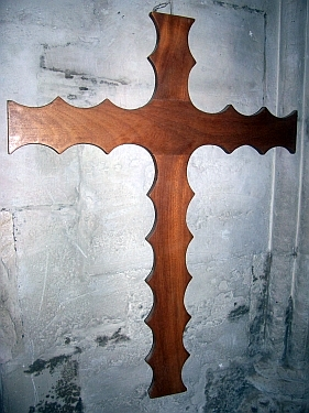Rosslyn chapel - Sinclair family's cross (former owners of the chapel)