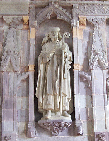 Cathédrale Saint David - Statue de Saint-David