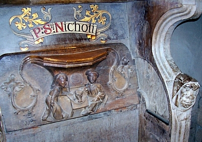 St David Cathedral - Misericord (view 2)
