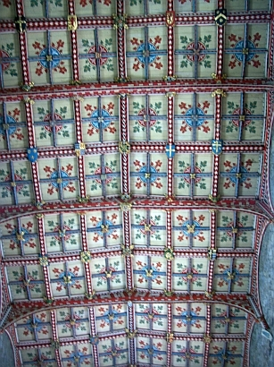 St David Cathedral - Coffered ceiling