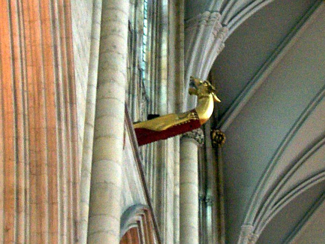 York Cathedral - Dragon head-shaped crane