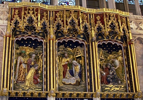 York Cathedral - Altarpiece in the chapel of the Blessed Virgin