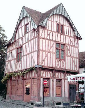 Provins - Half-timbered medieval house