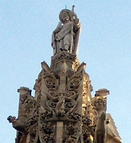 Chatelet - Statue of St.James at the top of the tower