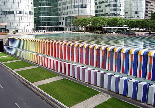 La Défense - Agam fountain