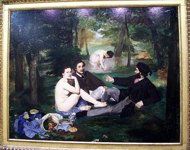 Orsay museum - Luncheon on the grass / Manet