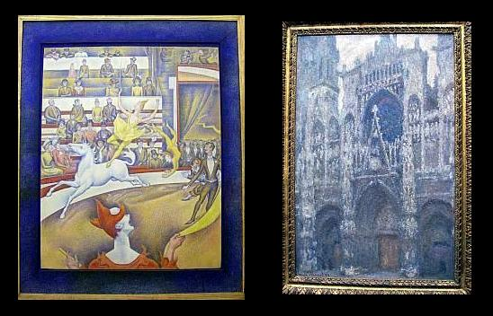 Orsay museum - The circus / Georges Seurat and Rouen cathedral / Rouen de Monet