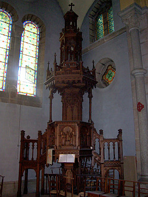 Pulpit in St. Thomas' church