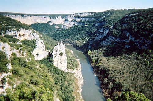 Ardeche gorges - the cathedral