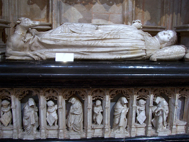 Monastery of Brou - Marble recumbent statue of Margaret of Bourbon