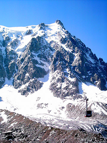 Aiguille du Midi and cable car