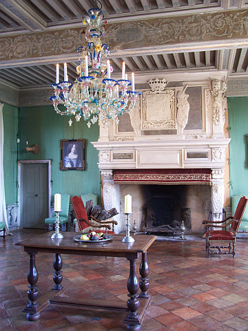 Fléchères castle - Fireplace in the summer living room