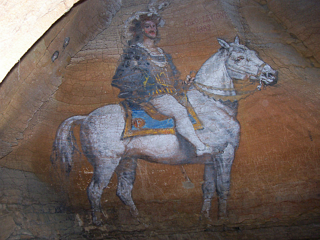 Balme caves - Painting of Francis I