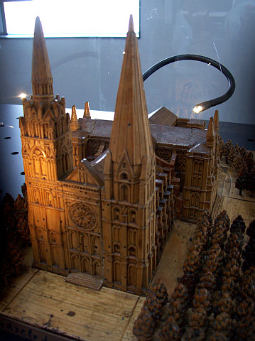 Antoine Brun museum - Model of Chartres' cathedral (France)