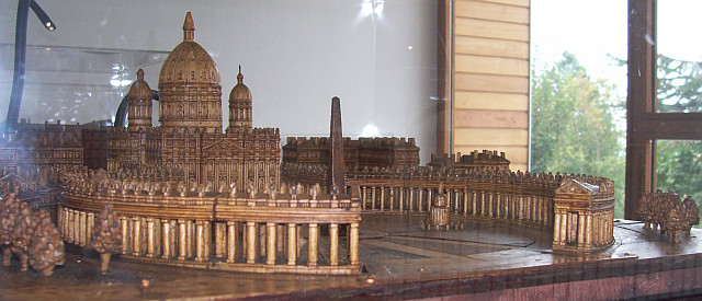 Antoine Brun museum - Model of St. Peter's square (Vatican City)