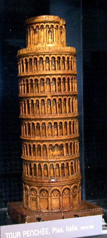 Antoine Brun museum - Model of Pisa tower (Italy)