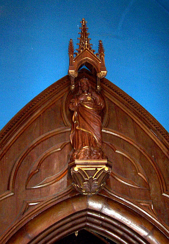 Saint-Bonnet-le-froid - Sculpture of the Sacred Heart