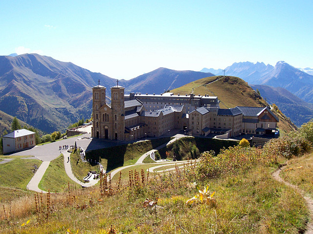 Sanctuary of La Salette, in the mountains