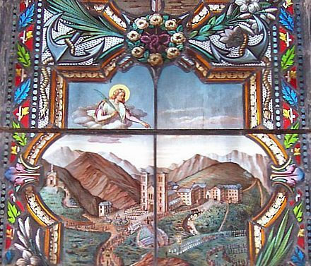 Stained glass windows about La Salette