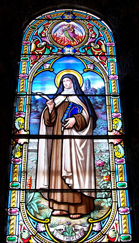 La Salette - Stained glass windows about St. Therese
