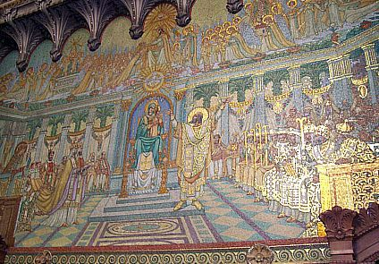 Fourviere basilica - Mosaics of the council of Ephesus (431)