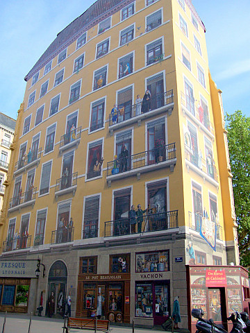 Trompe-l'oeil at St Vincent bank - Lyonnais' fresco