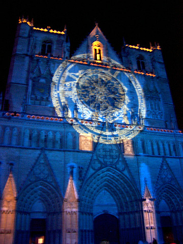 Illuminations in Lyon - St John's cathedral (2005)
