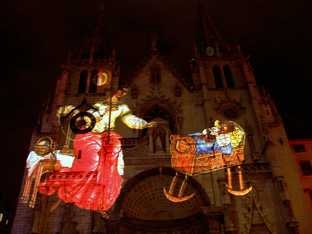 Illuminations in Lyon - St Nizier church (2005)