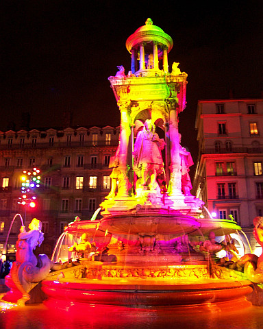 Illuminations in Lyon - Fountain of Jacobins square (2005)