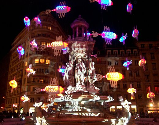 Illuminations in Lyon - Fountain of Jacobins square (2008)