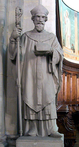 St. Paul's church of Lyon - Statue of St Sacerdos