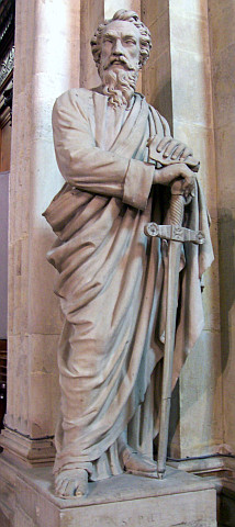 St. Paul's church of Lyon - Statue of St. Paul