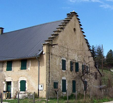 House of Vercors with stepped gable